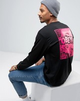 Obey Long Sleeve T-shirt With Back Print