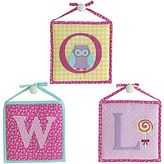 Laura Ashley Pink Owlphabet 3-pc. Wall Art