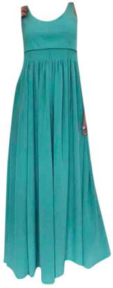 Hermes Turquoise Silk Dresses