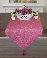 Table Runner 72-Inch Tasseled in Chateau Rose