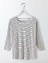 Boden Supersoft Oversized Tee Ivory/Navy Women