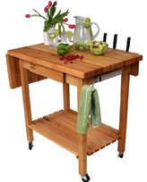 John Boos Co. Deluxe Culinary Kitchen Cart Qcl