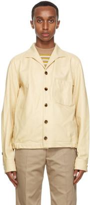 Marni Tan Matte Leather Jacket