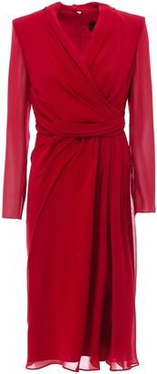 Max Mara Draped Dress