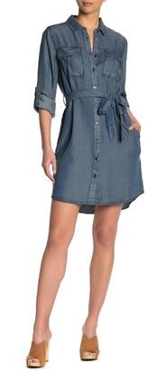 Velvet Heart Ada Chambray Waist Tie Utility Dress