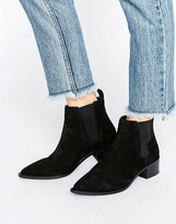 Office Agave Black Suede Chelsea Boots