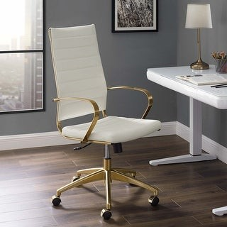 Modway Jive Gold Stainless Steel Highback Office Chair