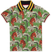 Gucci Children's polo with Bengal print
