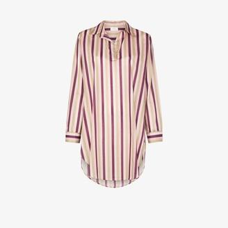 POUR LES FEMMES Poet striped sleep shirt