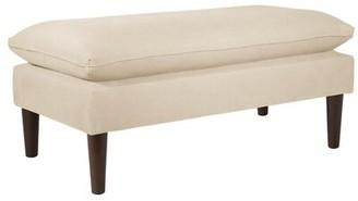 Darby Home Co Denham Upholstered Bench Upholstery: Linen