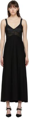 Victoria Beckham Black Insert Cami Midi Dress