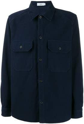 Closed button-up shirt