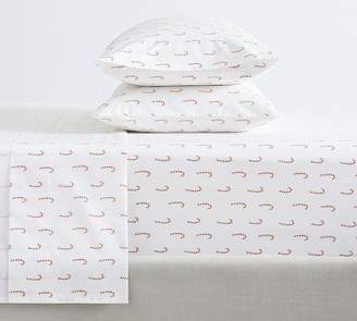 Pottery Barn Candy Cane Organic Cotton Sheet Set