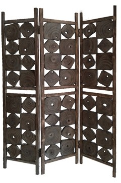 Screen Gems Handcrafted Rustic 3 Panel Glenbrook Screen