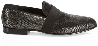 Saks Fifth Avenue COLLECTION BY MAGNANNI Metallic Formal Loafers