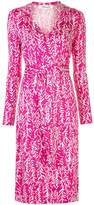 Diane von Furstenberg V-neck wrap front silk dress