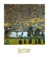 Gustav 1art1 Posters Klimt Poster Art Print - Mountain Slope At Unterach (28 x 20 inches)