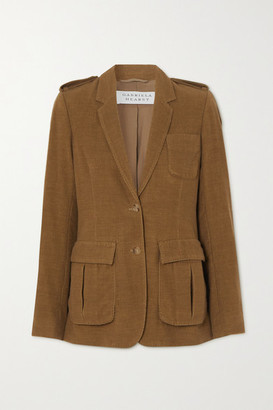 Gabriela Hearst Louisa Cashmere-corduroy Blazer - Light brown