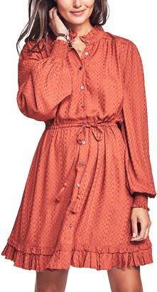 Faherty Samantha Long Sleeve Blouson Dress
