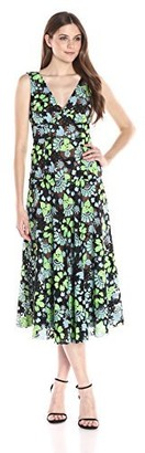 Tracy Reese Women's Embroidery on Net Dress