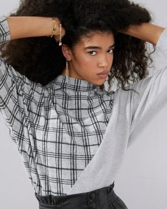 Vince Camuto Print-Block Sweater