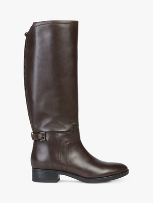 Geox Women's Felicity Leather Buckle Knee Boots