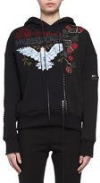 Alexander McQueen Needlepoint Embroidered Lace-Up Hoodie