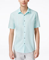 Alfani Men's Big and Tall Texture Short-Sleeve Shirt, Only at Macy's