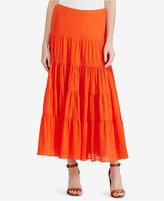 Lauren Ralph Lauren Gauze Cotton Maxiskirt