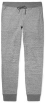 Club Monaco Essential Slim-fit Tapered Mélange Loopback Cotton-jersey Sweatpants - Gray