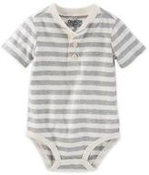 Osh Kosh Boy's Size 24M Striped Bodysuit in Grey