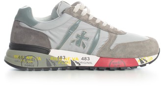 Premiata Lander Sneakers Leather Upper Rubber Sole Grey