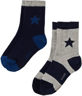 Molo Pack of 2 Blue Star Print Socks