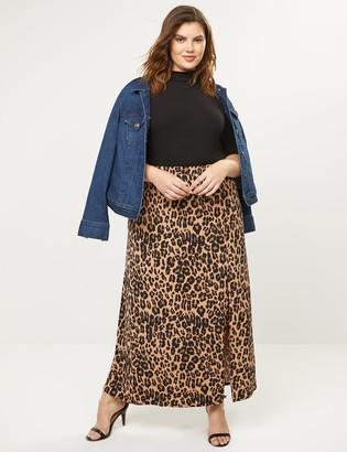 Lane Bryant Animal Print Pull-On Maxi Skirt