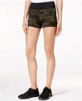 Jessica Simpson The Warm Up Juniors' Printed Compression Shorts