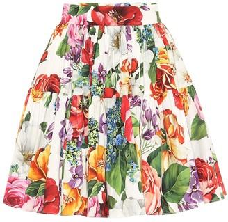 Dolce & Gabbana Floral cotton miniskirt