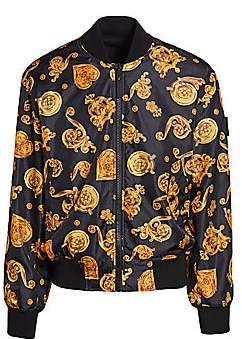 Versace Men's Baroque Printed Bomber Jacket
