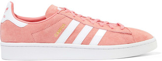 adidas Campus Leather-trimmed Suede Sneakers