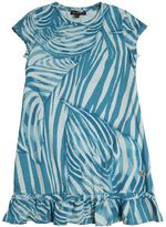 Roberto Cavalli Zebra Printed Cotton Jersey Dress