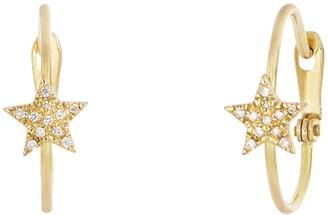 Bony Levy 18K Gold Petite Diamond Star Huggie Earrings - 0.15 ctw