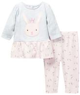 Rene Rofe Bunny Dress & Legging Set (Baby Girls)