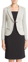 Armani Collezioni Women's Houndstooth Jersey One-Button Blazer