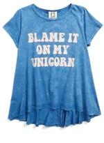 Ppla Girl's Blame It On My Unicorn Graphic Tee
