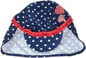 Playshoes Baby Girls' UV-Schutz Mutze Herzchen Hat