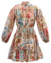 Thumbnail for your product : Zimmermann Cassia Patchwork-floral Cotton Mini Dress - Multi