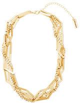 Steve Madden Station & Rectangular Bar Link Necklace