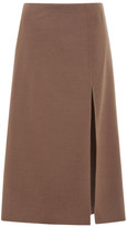 Marc Jacobs Double-Face A-Line Skirt Cocoa