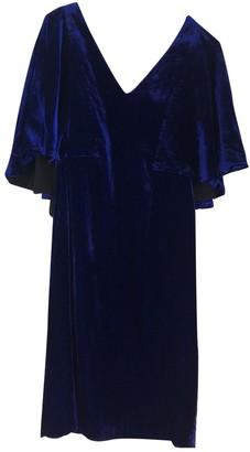 Badgley Mischka Blue Velvet Dresses