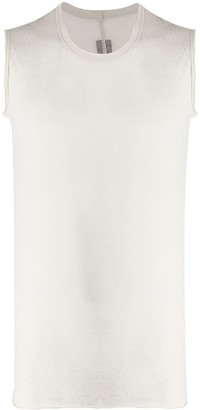 Rick Owens Long Raw Hem Tank Top
