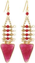 Nakamol Red Quartz Triangle Dangle Earrings